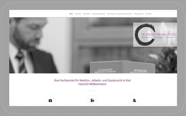 Rechtsanwalt Hollitzer Site Webdesign