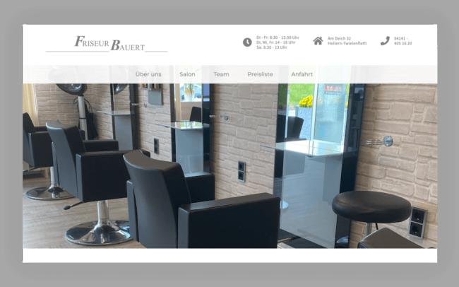 Friseur Bauert Site Webdesign
