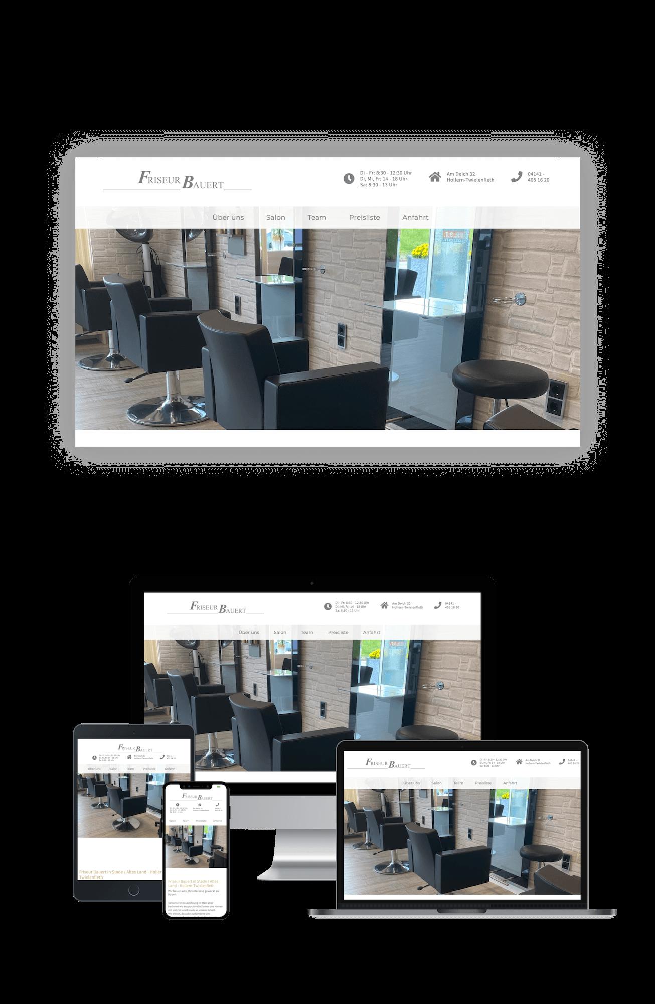 Friseur Bauert Portfolio Webdesign