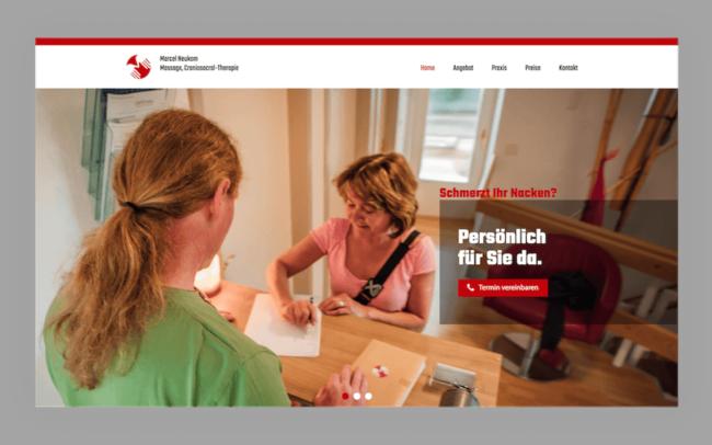 Marcel Neukom Site Webdesign