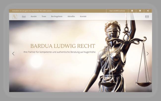 BL-Recht Site Webdesign