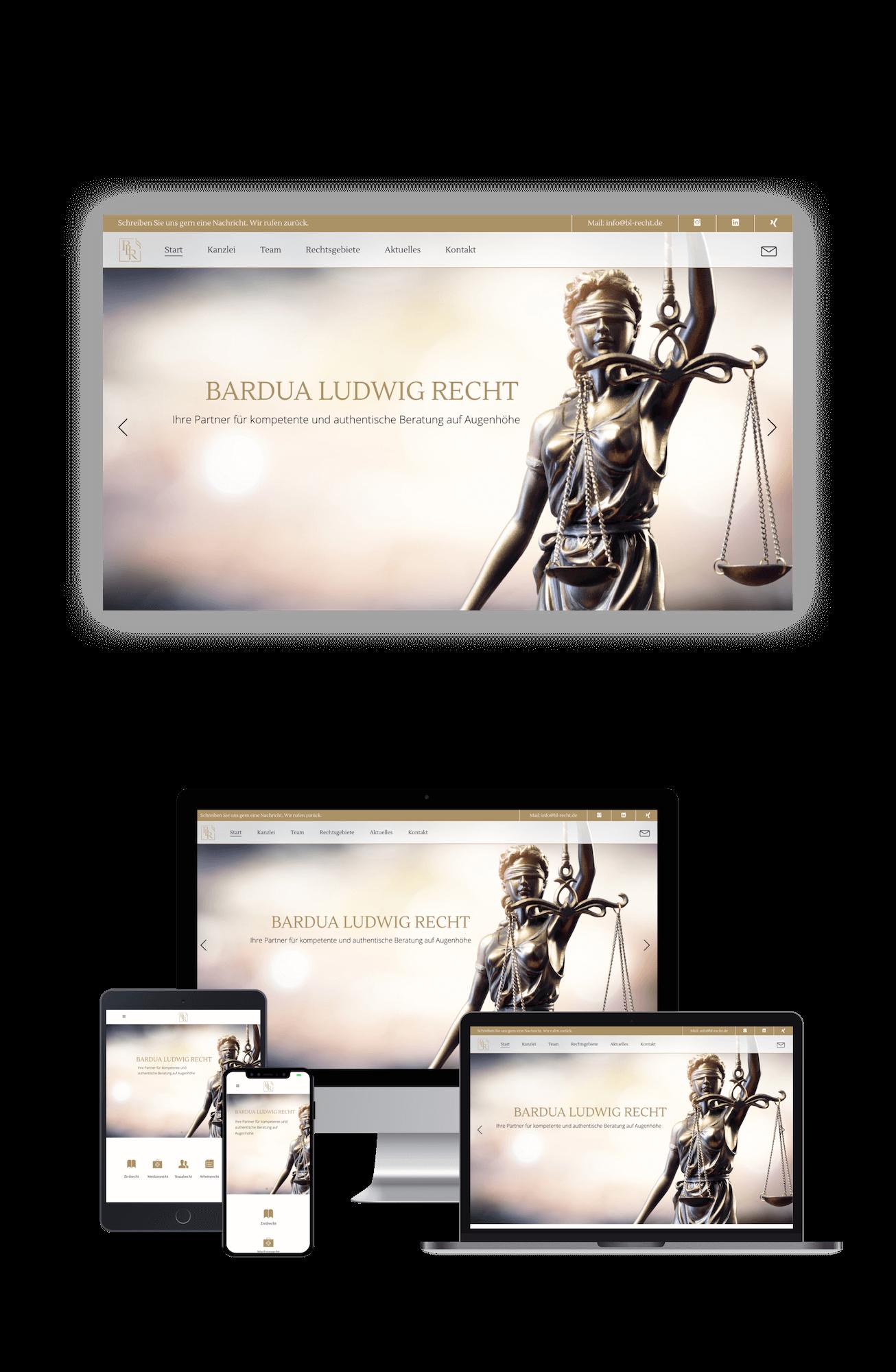 BL-Recht Portfolio Webdesign