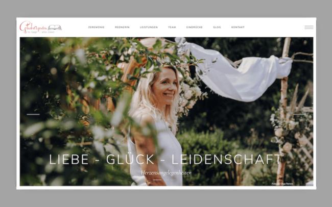 Gluecksagenten Site Webdesign