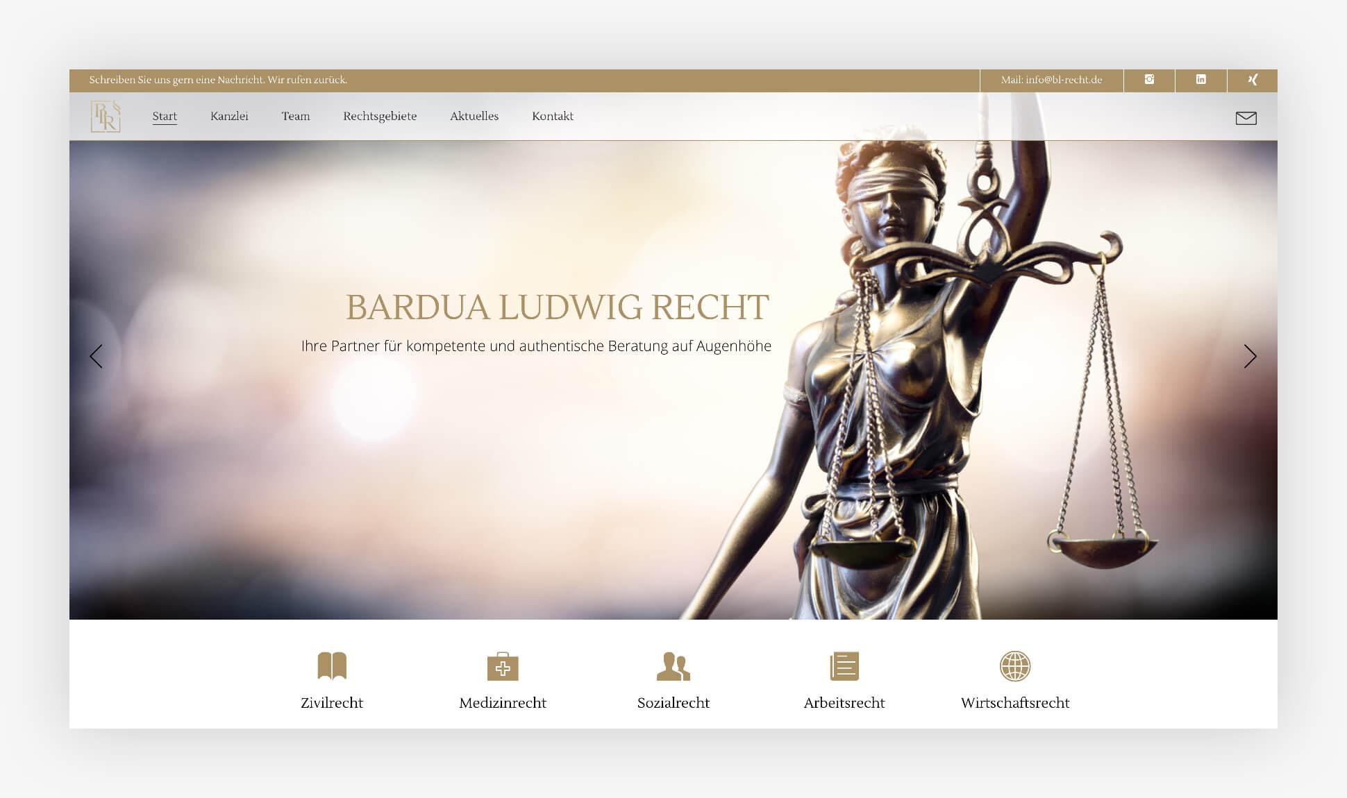 Webdesign Website Bardua Ludwig Recht Hamburg