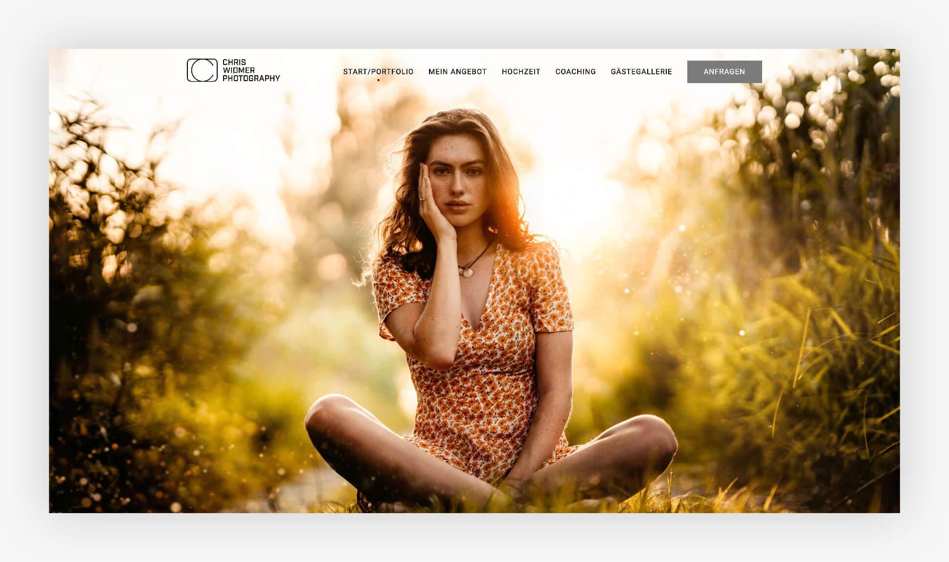Webdesign Website Chris Widmer Photography Schweiz