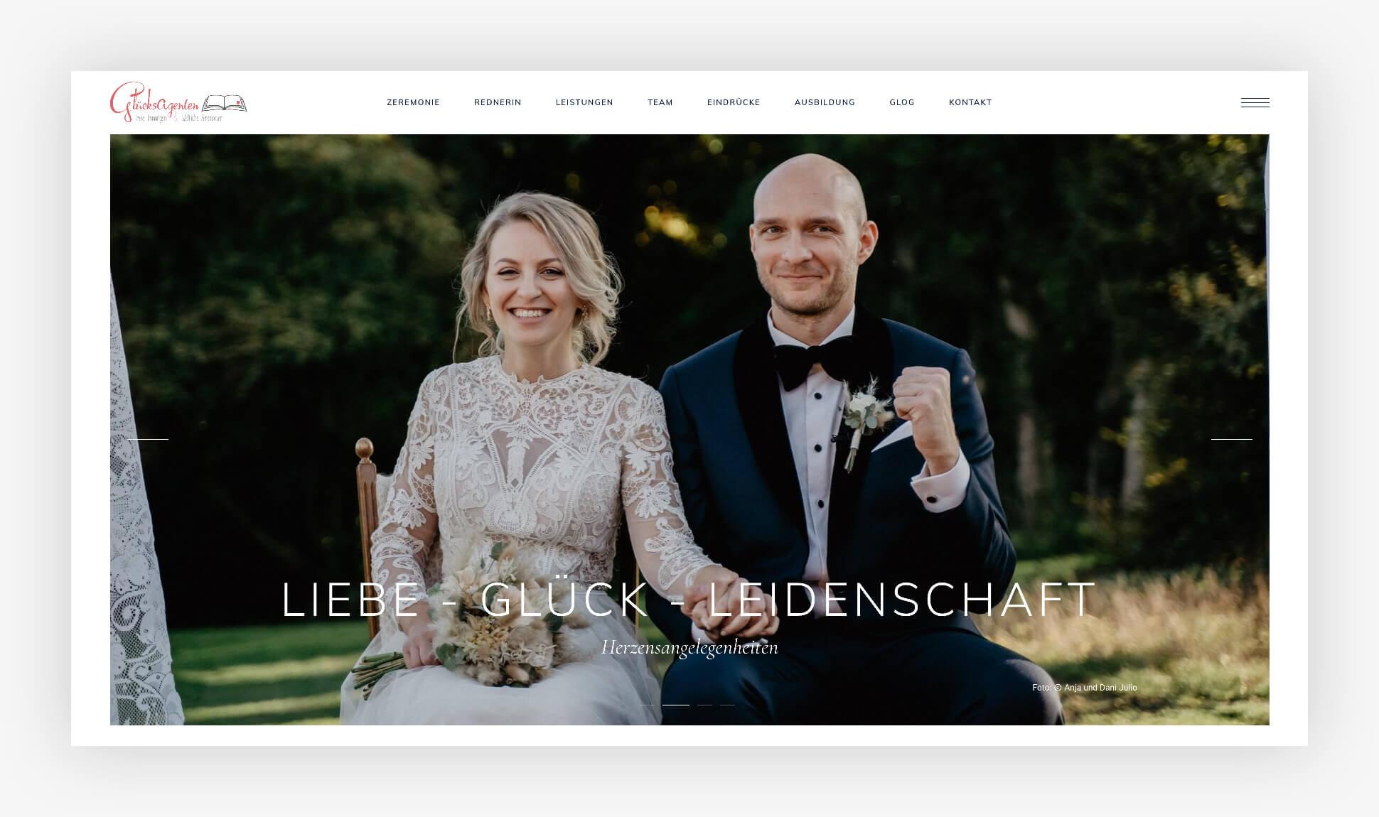 Webdesign Website Glücksagenten Stade