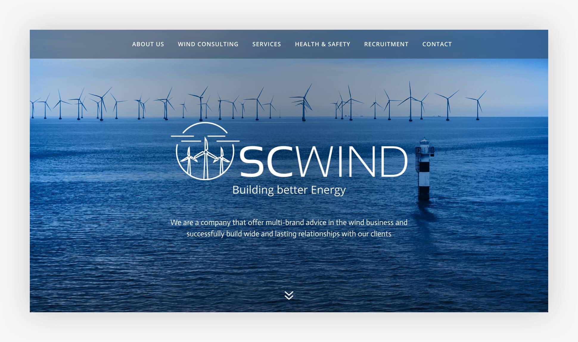 Webdesign Website SCWind Stade